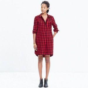 {Madewell} Latitude Flannel Shirtdress